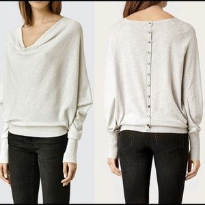 All Saints Elgar Cowl Neck Shirt